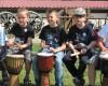 Kluci bubnují