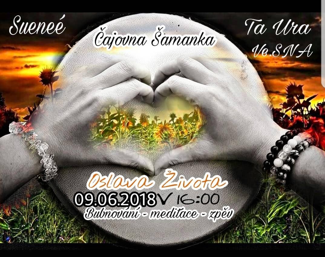 Oslava života v čajovně Šamanka